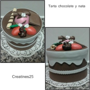 tarta chocolate y nata